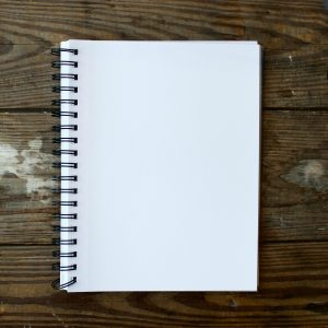 redacción publicitaria, folio en blanco