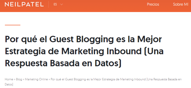 Por qué el Guest Blogging es la Mejor Estrategia de Marketing Inbound (Una Respuesta Basada en Datos)